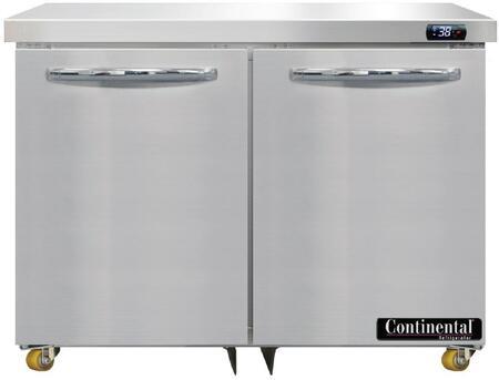 Continental Refrigerator Designer Line D36NU Undercounter and Worktop Refrigerator Stainless Steel, D36N-U Undercounter Refrigerator