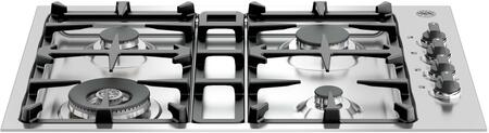 Bertazzoni Master Q30M400X Gas Cooktop Stainless Steel, Q30M400X  30 Drop-In Low Profile 4 Burners