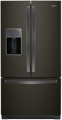 Whirlpool WRF757SDHV French Door Refrigerator Black Stainless Steel, Main Image