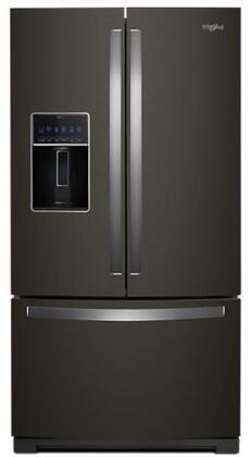Whirlpool  WRF757SDHV French Door Refrigerator Black Stainless Steel, Main Image