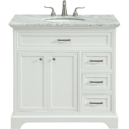 Elegant Decor Americana VF15036WH Sink Vanity White, VF15036WH