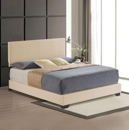Acme Furniture Ireland 24277EK Bed Beige, 1