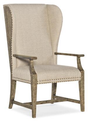 Hooker Furniture La Grange 69607550081 Dining Room Chair Beige, Silo Image