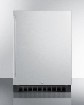 Summit  SPR627OS Compact Refrigerator Stainless Steel, SPR627OS Front View