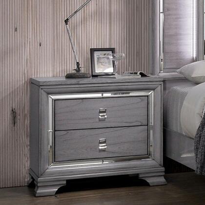 Furniture of America Alanis CM7579N Nightstand Gray, CM7579N