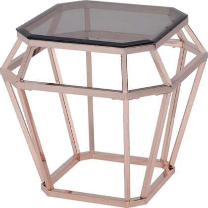 Acme Furniture Clifton 83352 End Table Gold, 1
