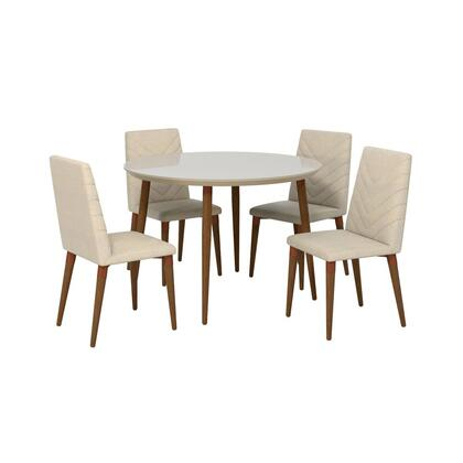 Utopia Collection 2-1015052109251 5 PC Dining Set with Contemporary Modern Style  Medium-Density Fiberboard (MDF) Frame  Solid Wood Feet and