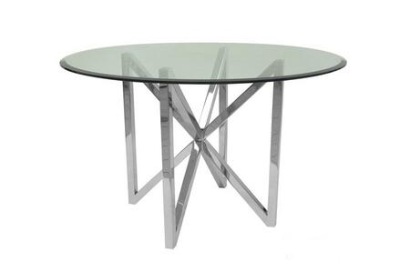 Allan Copley Designs Calista 2120504 Dining Room Table Stainless Steel, Dining Table