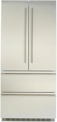 """36"""" Stainless Steel Built-In French Door Refrigerator with 18.9 cu. ft. Total Capacity BioFresh SuperCool and Oval"""
