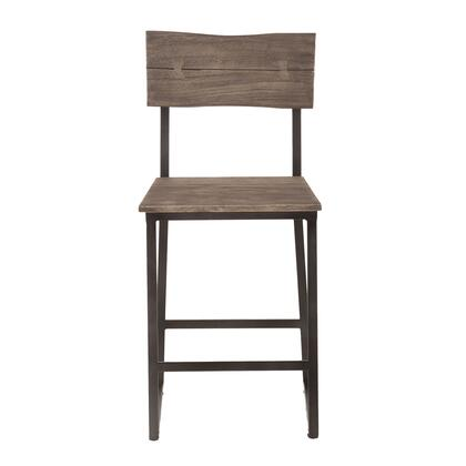 New Orleans Collection ZWSBCC18WGGF-2X Set of 2 Counter Chairs in Weathered Grey
