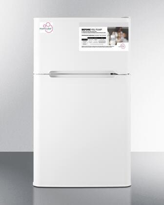 Summit MOMCUBE CP34WMC Compact Refrigerator White, CP34WMC Momcube Top Freezer Compact Refrigerator