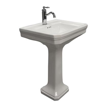 3-9111WH Drew 610 Pedestal with 1 Hole  Overflow