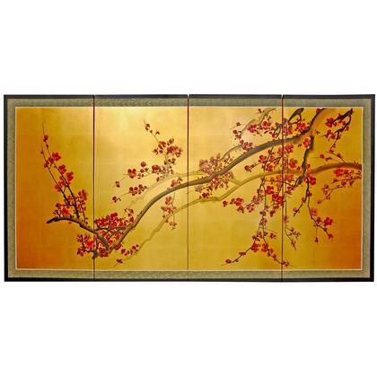 Oriental Furniture  SILKPLUMTREE36H Wall Art Gold, Main Image