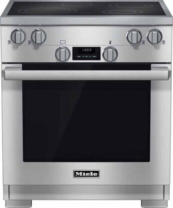 Miele DirectSelect HR1421E208V Freestanding Electric Range Stainless Steel, Main View