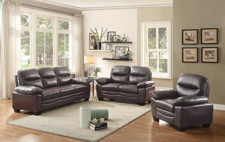 Glory Furniture G674SET Living Room Set Brown, 1