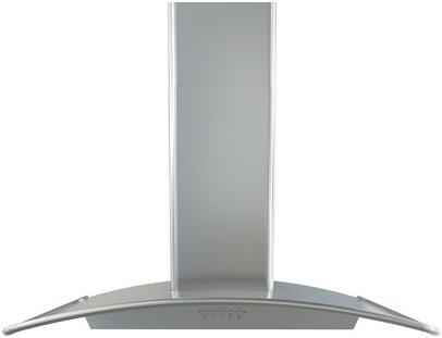 """BMI-E36BS 36"""" Brisas Series Chimney Style Wall Mounted Range Hood with 600 CFM 6"""" Round Vertical Ducting 3 Speed Push Button Controls Halogen"""