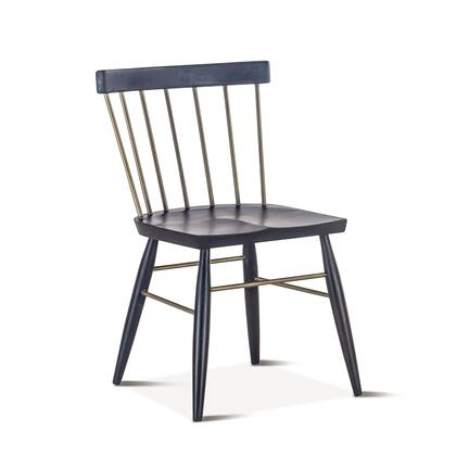 Nubian Collection ZWTNDC18EBF-2X Set of 2 Dining Chairs in Ebony
