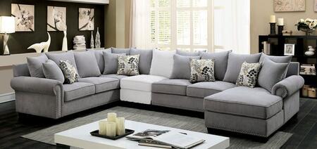 Furniture of America Skyler II CM6156GYSECT Sectional Sofa Gray, Main Image
