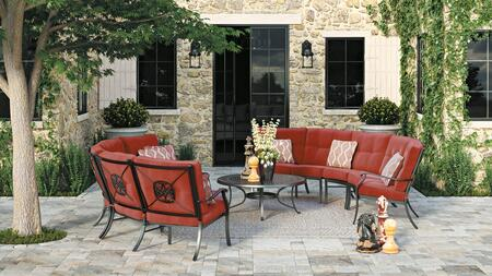 Signature Design by Ashley Burnella P456708846855856 Outdoor Patio Set Orange, Main Image