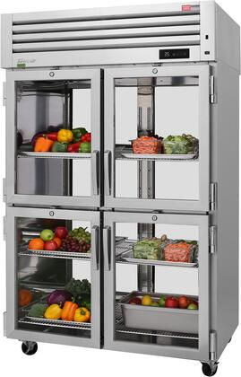 PRO-50-4R-G-PT-N 52″ Pro Series Glass Half Door Pass-Thru Refrigerator with 48.7 cu. ft. Capacity  Self-Cleaning Condenser  Digital Temperature