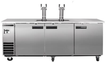 MXBD72-2S 74″ X-Series Keg Cooler with 17.3 cu. ft. Capacity  Dual Towers  4″ Casters and Self-Contained Forced Air Refrigeration System in Stainless