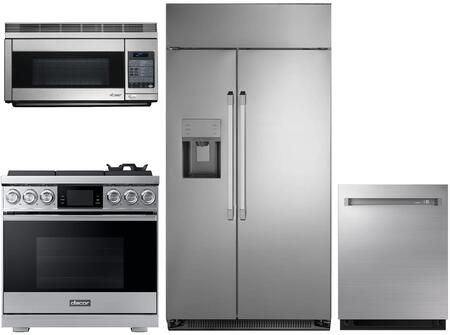 Dacor  1072556 Kitchen Appliance Package Stainless Steel, main image