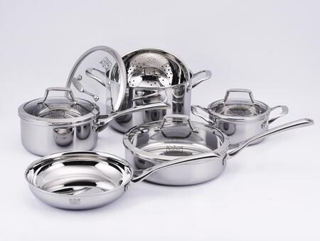 K16020 10-Piece Culinary Professional 3-Ply Stainless Steel Cookware