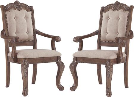 Signature Design by Ashley Charmond D80301A Dining Room Chair BROWN, D80301A Main View