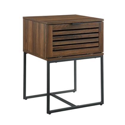 AF18JACSTDW 18″ Modern Slat Door Side Table – Dark