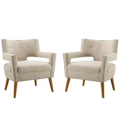 Modway Sheer EEI4082SAN Living Room Chair Brown, EEI4082SAN set