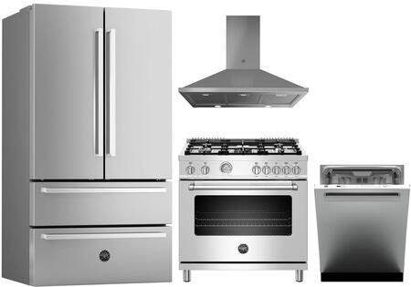 Bertazzoni Professional 1394557 Kitchen Appliance Package Stainless Steel, Main image
