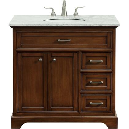 Elegant Decor Americana VF15036TK Sink Vanity Brown, VF15036TK