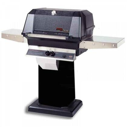 27″ Freestanding Liquid Propane Grill Head with Cart  574 sq. inches Total Cooking Area  1 Dual Burner  40000 BTU  Electronic Ignition  Sta-Kool