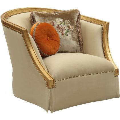 Acme Furniture Daesha 50837 Living Room Chair Gold, 1