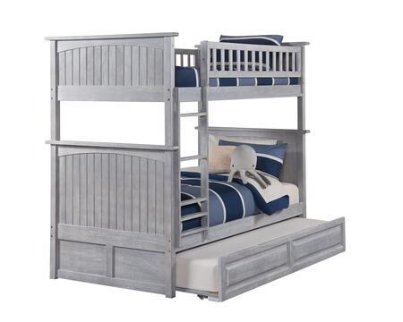 Atlantic Furniture Nantucket AB59138 Bed Gray, AB59138 SILO TR2 30