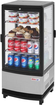 Turbo Air CRT772RN Display and Merchandising Refrigerator Stainless Steel, CRT772RN Angled View