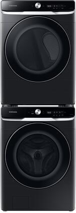Samsung  1396943 Washer & Dryer Set Black Stainless Steel, 1