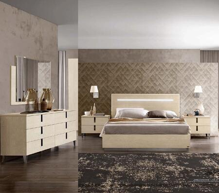 ESF AMBRABEDKS2NSDRMR Bedroom Set Brown, AMBRABEDKS2NSDRMR