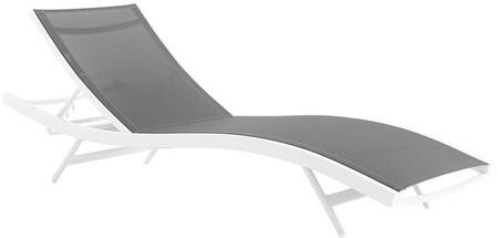 Modway Glimpse EEI3300WHIGRY Lounge Chair Gray, Main Image
