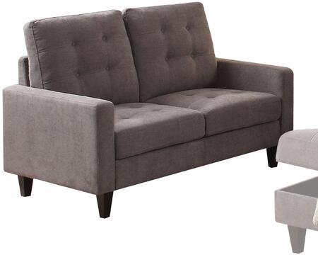Acme Furniture Nate 50241 Loveseat Gray, 1