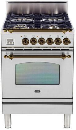 Ilve Nostalgie UPN60DVGGIY Freestanding Gas Range , UPN60DVGGIY Nostalgie Gas Range