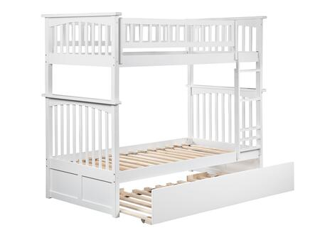 AB55152 Columbia Bunk Bed Twin over Twin with Twin Size Urban Trundle Bed in