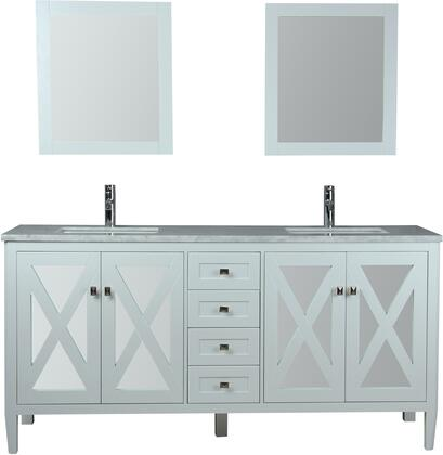 Reflection Collection MTD-7172W 72″ Single Sink Bathroom Vanity Set in