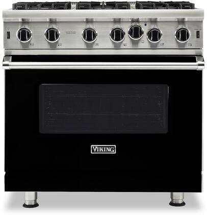 Viking 5 Series VGIC53626BBK Freestanding Gas Range Black, VGIC53626BBK Open Burner Gas Range