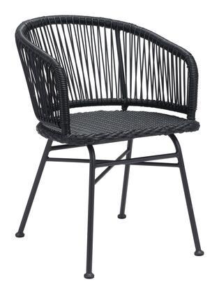 Zuo Zaragoza 703948 Dining Room Chair Black, 703948 1