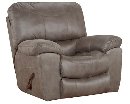 Trent Collection 61920-4 1153-18 44″ Power Wall Hugger Recliner with Sleek Contemporary Auto-Seat Design  Decorative Contrast Stitching and Comfort