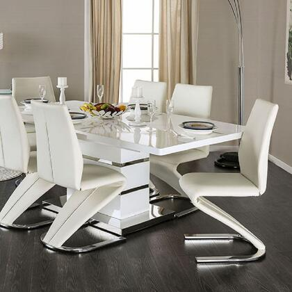 Furniture of America Midvale CM3650TTABLE Dining Room Table White, main image
