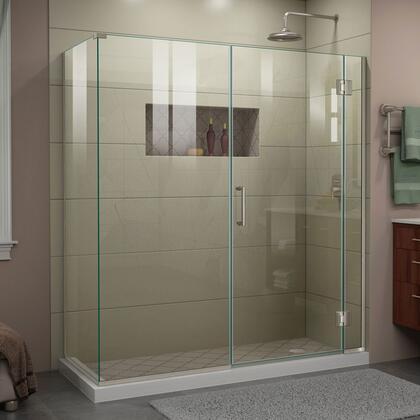 DreamLine Unidoor-X E128303404 Shower Enclosure Silver, UnidoorX Shower Enclosure RS45 6HP 30D 30IP 30RP 04