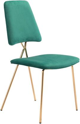 101465 Chloe Chair Green  (Set of