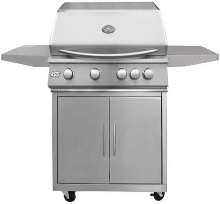 32″ Freestanding Premier Natural Gas Grill with Cart  Stainless Steel Gas Burners  Electronic Sure-Strike Ignition  Rear Burner  Up to 60000